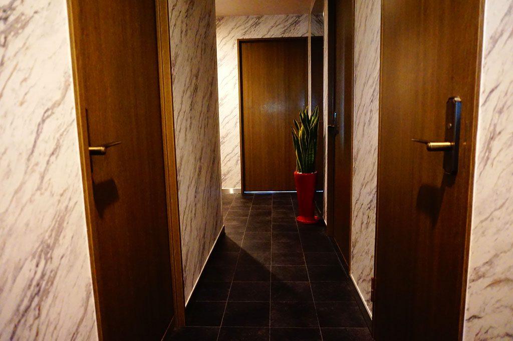 ワンちゃんと共に暮らす廊下