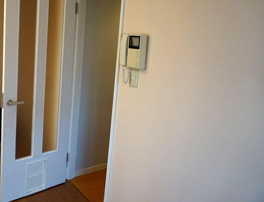 開閉時のペットドア