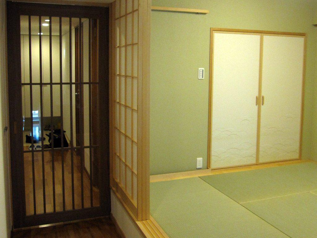 和室らしさを演出 建具も和の雰囲気です