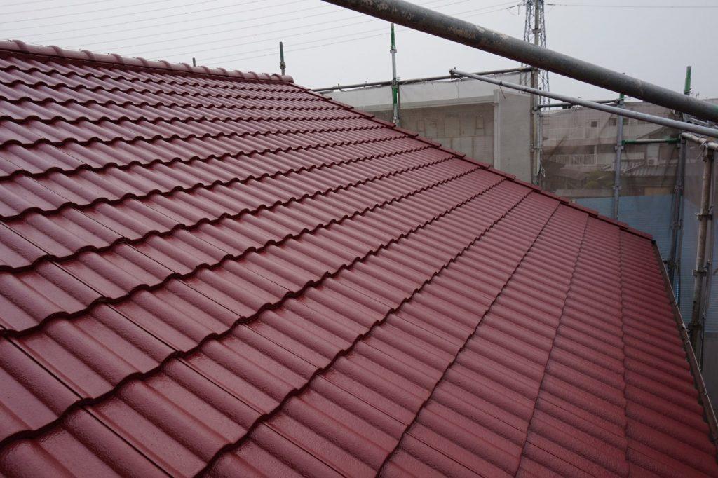 遮熱効果のある塗装仕上げで室内温度が変ります