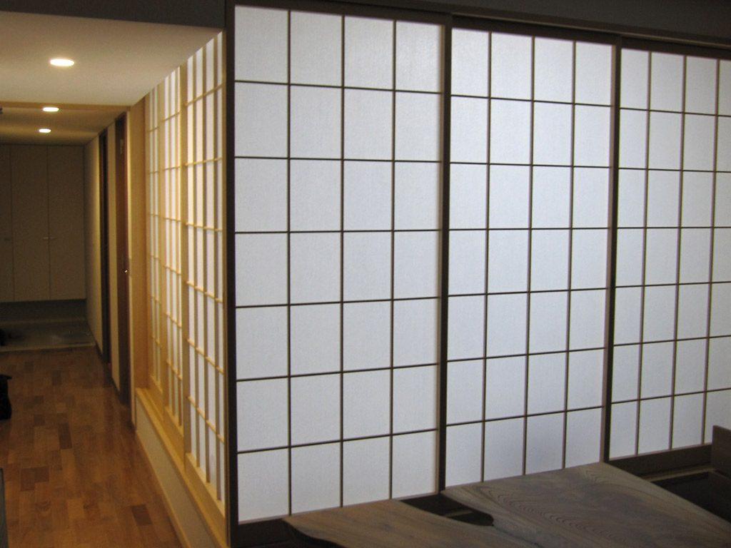 和室の障子の開閉で空間が広がりをみせます