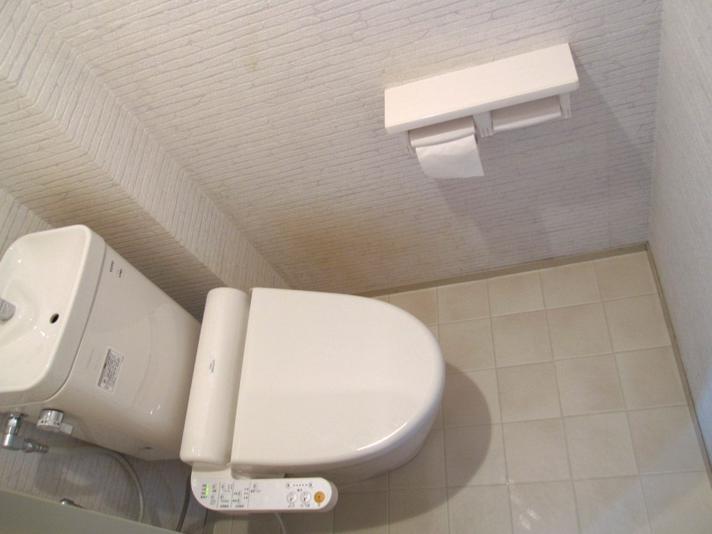 タンクの小さな節水トイレ 内装にもこだわりました