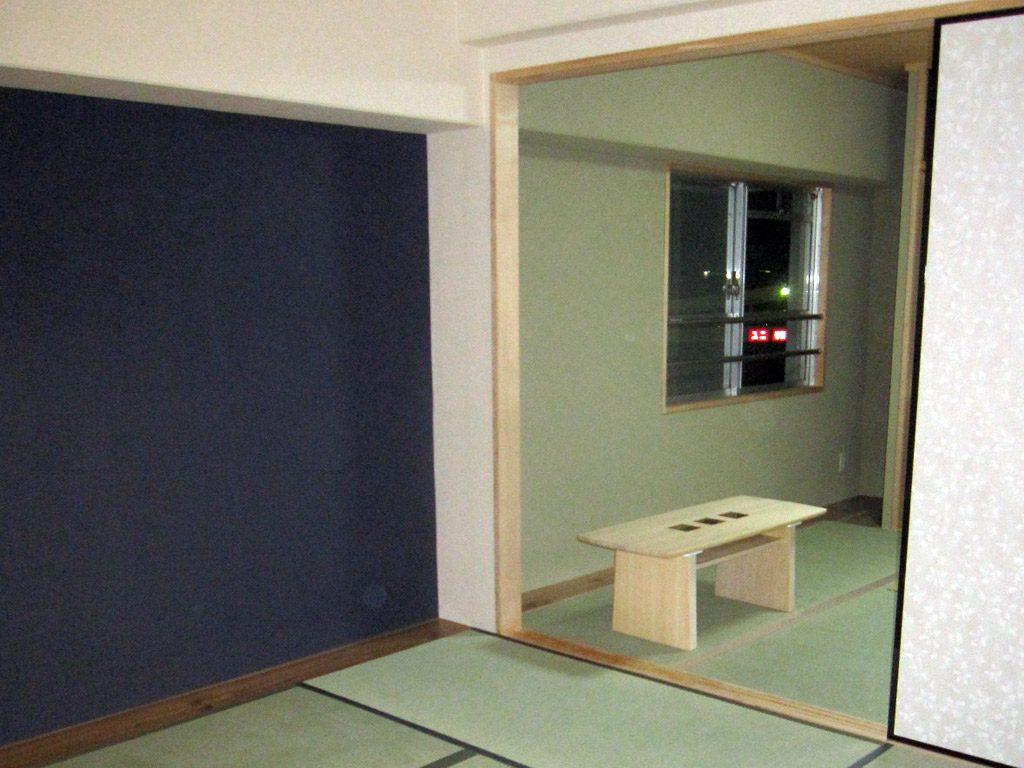 和室の押し入れを撤去して隣の和室とふすまで区切りました