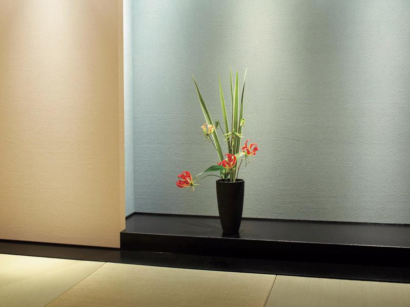 床の間がある和室を現代風の仕上がりに。
