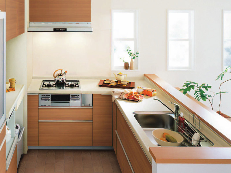 キッチンのレイアウト 動線 イメージ写真TOTO