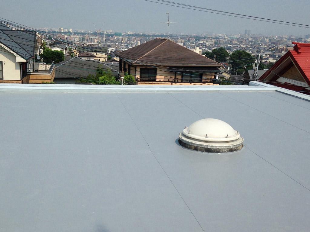 完成度が高い安心できる屋上の防水工事の完成。