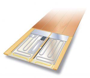 電気式床暖房  イメージ 仕上げ材一体型