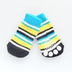 犬がフローリングで滑るのを防ぐ靴下をはかせる