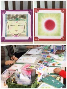 【指で描くパステル和アート体験】 JAHHA・パステル和アート