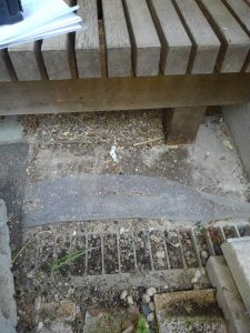庭に出る時に大きな段差の上り下りに不自由さ(危険)を感じておられました。