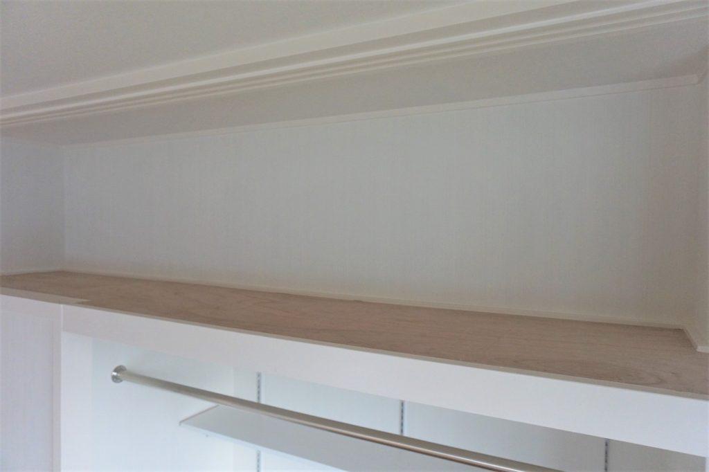 押し入れの天窓スペースはフラットにして化粧しました。すっきりとした形で残します。