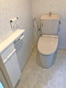 まるでエレガントなホテルのトイレです!