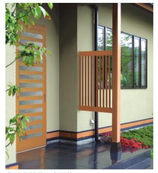 玄関柱の取替え工事