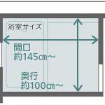 タカラスタンダードのぴったりサイズシステムバス 規格サイズが入らない小さい浴室も、お家に合ったぴったりサイズでリフォームできます。