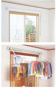 壁付 窓上部の壁に設置すれば、窓から入る日差しを 有効に利用することができます。 (耐荷重:10~12kg/メーカー・製品により異なる)