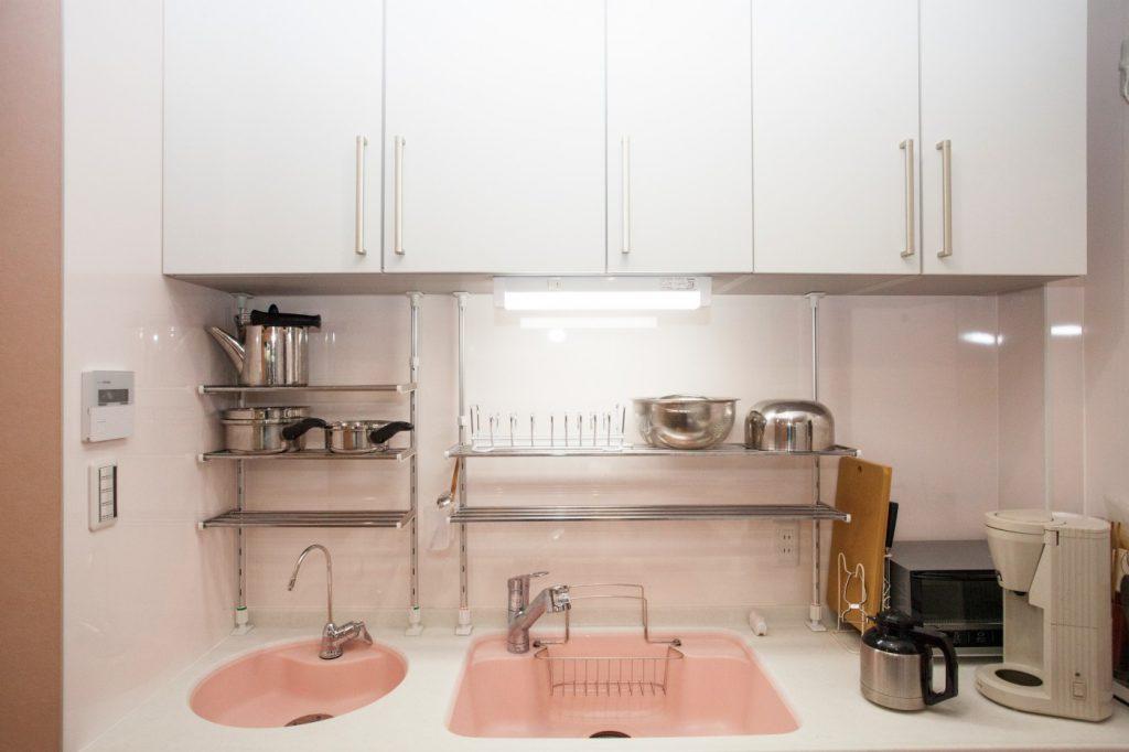 キッチンシンクはトクラス とことんピンクにこだわりました
