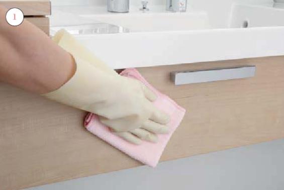 洗面室キャビネット_お手入れの仕方画像