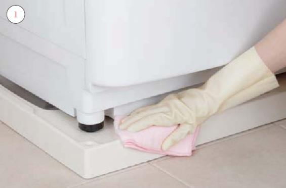 洗面室_洗濯機パン_お手入れの仕方画像