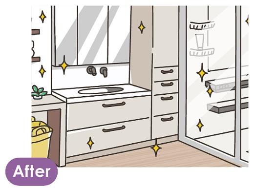 洗面空間まるごとリフォームのイラスト