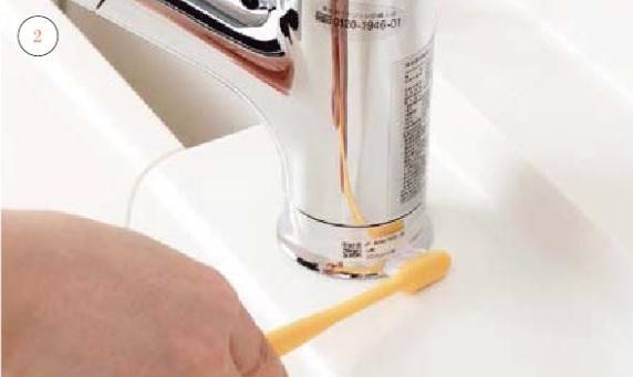 キッチン水栓金具_お手入れの仕方画像