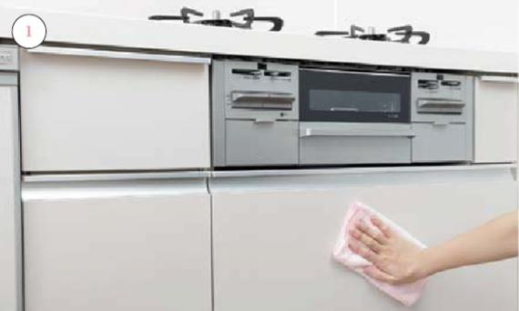 キッチンキャビネット_お手入れの仕方画像