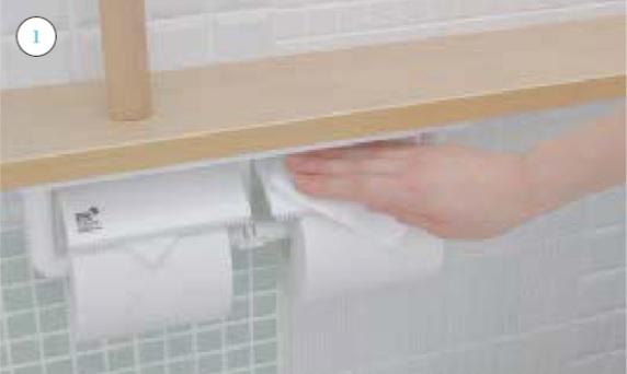 トイレ紙巻器_お手入れの仕方画像