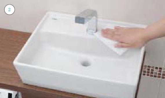 トイレ手洗器_お手入れの仕方画像①