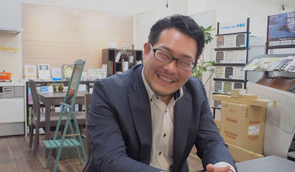 山田さまの笑顔の写真