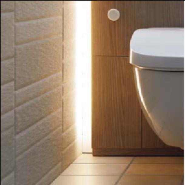 LIXIL 間接照明で奥行きを感じるフロートトイレ