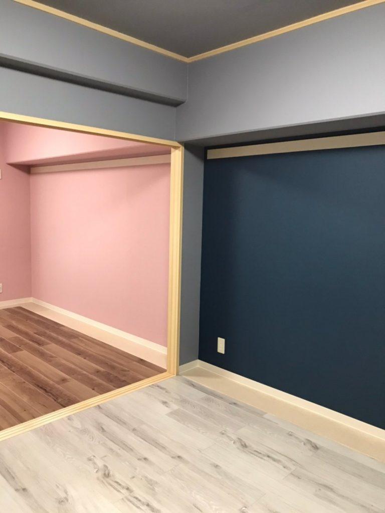 和室の原型をあえてとどめて、敷居を残し利用しました