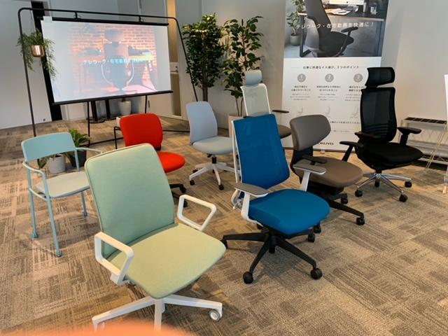 コクヨさんのショールームでは【理想のワークスペースをカタチにする快適なオフィス家具 椅子